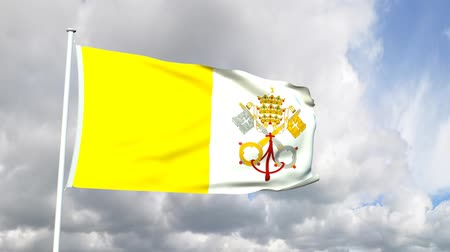 watykan : Flag of Vatican City Wideo