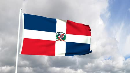 dominikana : Flag of the Dominican Republic Wideo