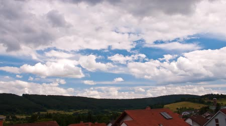time lapse clouds : Time lapse moving clouds Stock Footage