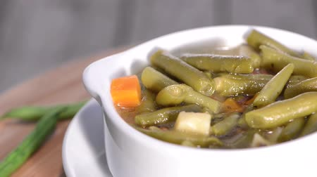 hotpot : Rotating loopable Green Bean Soup (HD Video) Stock Footage