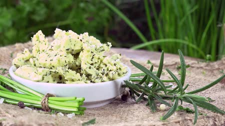 origan : Homemade Herb Butter (rotation, seamless loopable images 4K UHD)