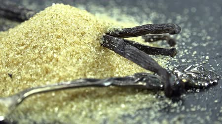 vanilya : Portion of Vanilla Sugar not loopable Stok Video