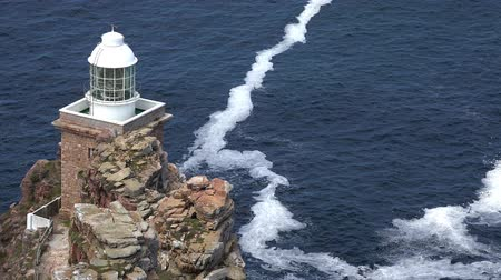 punto : Cape Point Lighthouse Sud Africa Filmati Stock