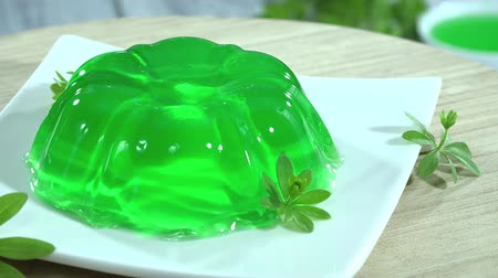 galaretka : Woodruff Jelly Dessert seamless loopable Wideo
