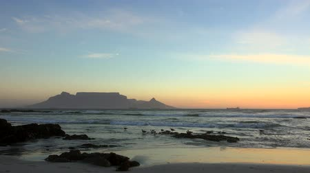 áfrica do sul : Cape Town at the Sunset view from Bloubergstrand, South Africa