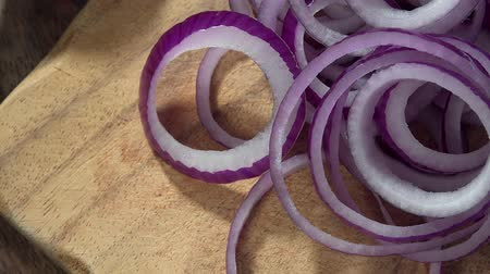 part of clip : Rotating Red Onion Rings not loopable, 4K