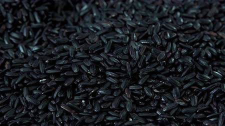 yasemin : Rotating Black Rice as high detailed 4K UHD footage