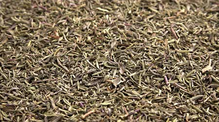 mar : Portion of rotating dried Thyme as seamless loopable 4K UHD footage