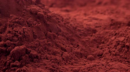 puder : Portion of Cacao Powder (seamless loopable) Wideo