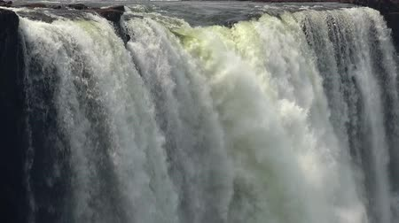 zambia : Victoria Falls (filmed from Zimbabwe) as detailed 4K UHD footage Stock Footage