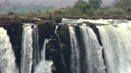 afrika : The great Victoria Falls in Zimbabwe as 4K UHD footage