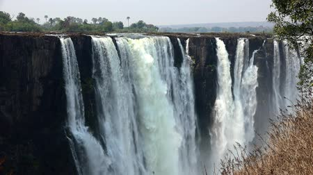 zambia : Victoria Falls filmed on the Zimbabwe side as 4K UHD footage