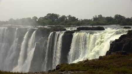 zimbabwe : Victoria Falls (filmed from Zimbabwe) as detailed 4K UHD footage Stock Footage