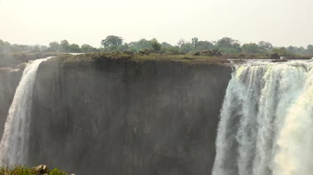 zambia : The great Victoria Falls in Zimbabwe as 4K UHD footage