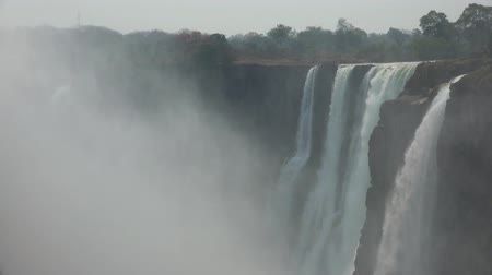 zambia : Victoria Falls in Zimbabwe as detailed 4K UHD footage