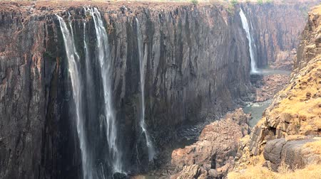 zimbabwe : Victoria Falls in Zimbabwe as detailed 4K UHD footage