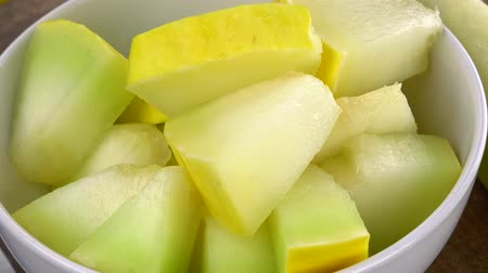 canteloupe : Honeydew Melon seamless loopable; 4K UHD) Stock Footage