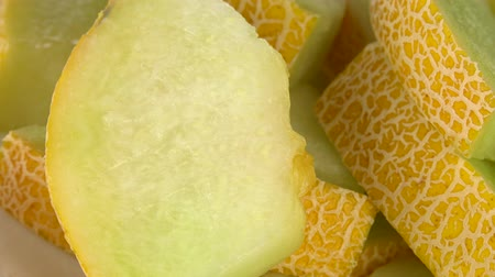frutoso : Honeydew Melon as detailed 4K UHD footage (seamless loopable) Vídeos