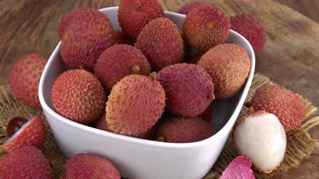 lychees : Lychees (not loopable; 4K) Stock Footage