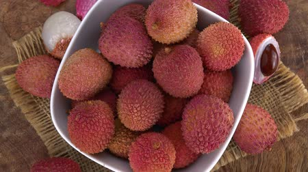 lychees : Lychees as not loopable roating 4K UHD footage