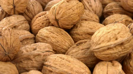 nutrientes : Nueces sin costuras en bucle; 4K UHD) Archivo de Video