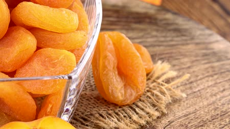 morele : Dried Apricots as seamless loopable 4K footage