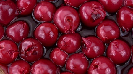 çuval bezi : Preserved Cherries seamless loopable; 4K UHD) Stok Video