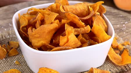 塩辛い : Rotating Sweet Potato Chips (seamless loopable; 4K)