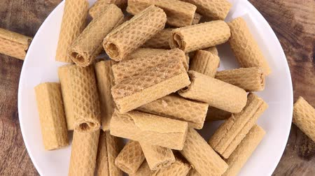 sweetened : Wafers seamless loopable; 4K UHD) Stock Footage