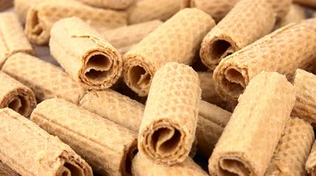 sweetened : Wafers as seamless loopable rotating 4K UHD footage Stock Footage