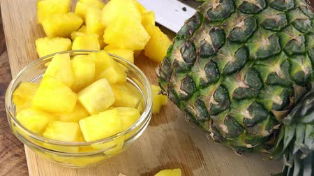 frutoso : Fresh made Sliced Pineapple (rotating) as seamless loopable 4K UHD footage)