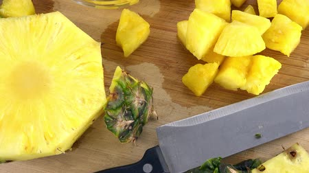 frutoso : Rotating Diced Pineapple (seamless loopable 4K UHD footage)