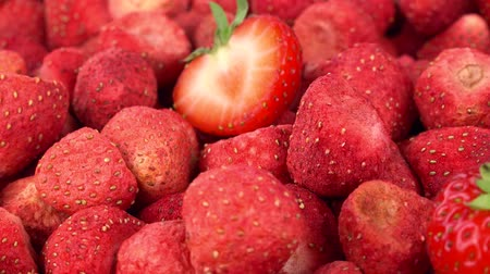 Dried Strawberries as seamless loopable 4K footage