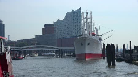 philharmonic : Hamburg Harbor (northern Germany) Stock Footage