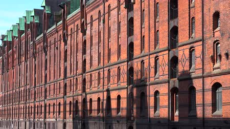 elba : Speicherstadt in Hamburg (Germany) Filmati Stock