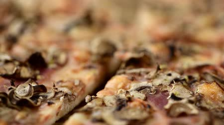 Homemade Mushroom Pizza (seamless loopable; in 4K)