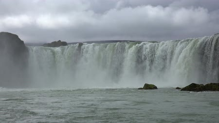 foss : The famous Godafoss waterfall in northern Iceland during summertime