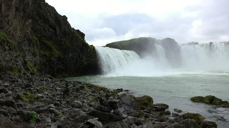 foss : Godafoss waterfall in northern Iceland during summertime