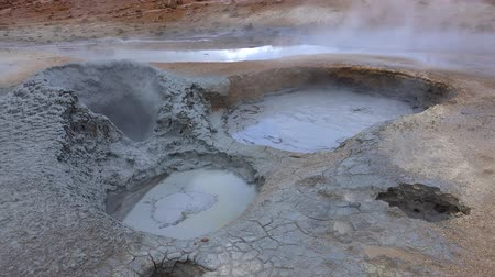 gejzír : The Hverir Geothermal Area near Myvatn, Iceland