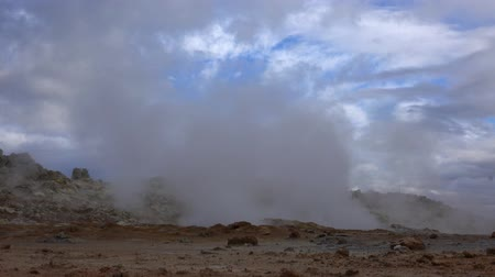 geyser iceland : The Hverir Geothermal Area near Myvatn, Iceland