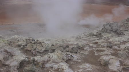 geiser : Hverir Geothermal Area near Myvatn, northern Iceland