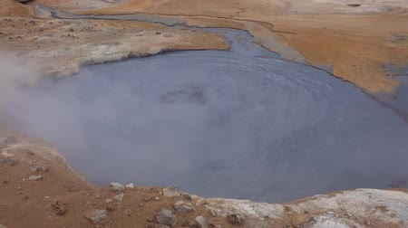 geiser : The Hverir Geothermal Area near Myvatn, Iceland