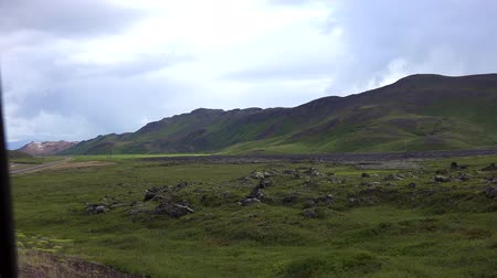 enxofre : Hverir Geothermal Area in Iceland Stock Footage
