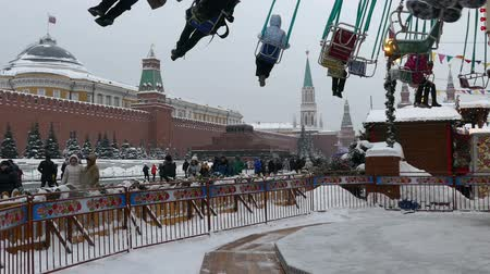 kreml : Carousel near the Kremlin Stock mozgókép