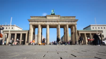 gates : Brandenburg gate in Berlin Germany Blurry Tourists