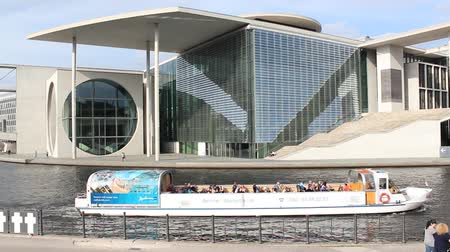chancellery : Federal Chancellery sight seeing boat trip Spree Berlin Germany