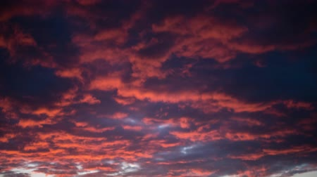 nearly : cloudy sky during sunset time lapse, colorful clouds