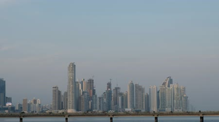 parafusos : Panama City, Panama - march 2018: The skyline of downtown Panama City, view from Casco Viejo.
