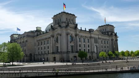 The Germany Reichstag Building (Parliament  Bundestag) in Berlin, Germany Stock Footage