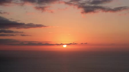 nearly : Sunset over ocean time lapse